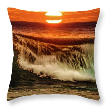 Ahh.. The Sunset Wave Throw Pillow