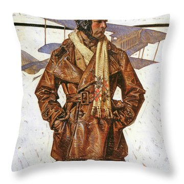 Air Force Pilot - Digital Remastered Edition Throw Pillow