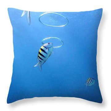 Air Rings Throw Pillow