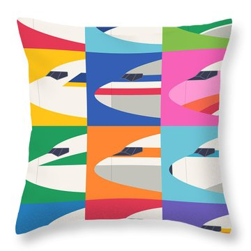 Airline Livery Minimal Throw Pillow