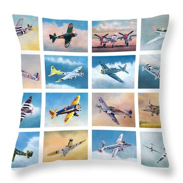 Airplane Poster Throw Pillow