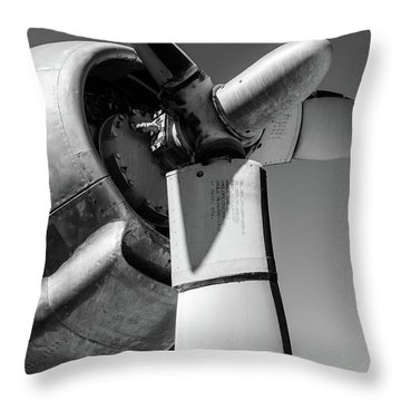 Airplane Propeller Throw Pillow