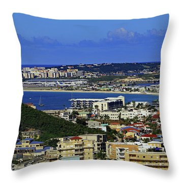Throw Pillow featuring the photograph Airport by Tony Murtagh