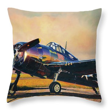 Airshow Hellcat Throw Pillow