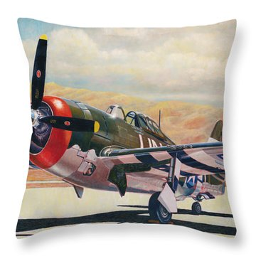 Airshow Thunderbolt Throw Pillow