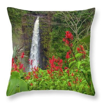 Throw Pillow featuring the photograph Akaka In Red by Denise Bird