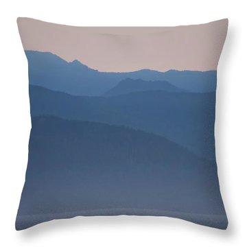 Alaska Inside Passage Mountains Throw Pillow