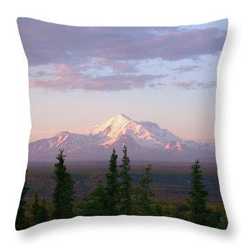 Throw Pillow featuring the photograph Alaska Mountain Sunset by Mark Duehmig