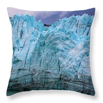 Alaskan Blue Glacier Ice Throw Pillow