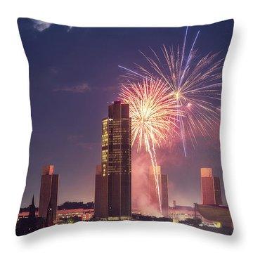 Albany Fireworks 2019 Throw Pillow