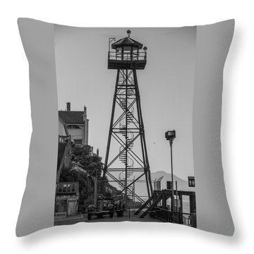 Alcatraz Light House Throw Pillow
