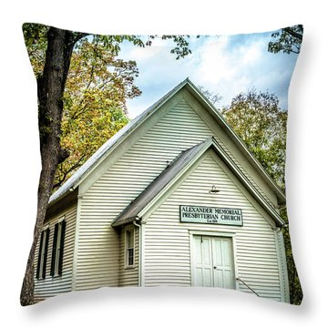 Alexander Memorial Presbyterian Church Throw Pillow