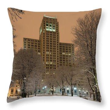 Alfred E. Smith Building Throw Pillow