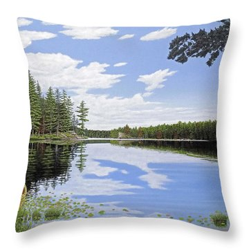 Algonquin Portage Throw Pillow