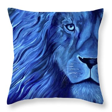 Alice B Landrum Lion Throw Pillow