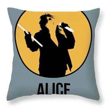 Alice Cooper II Throw Pillow