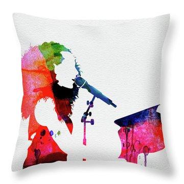 Alicia Keys Watercolor Throw Pillow