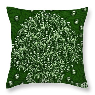 Alien Bloom 15 Throw Pillow