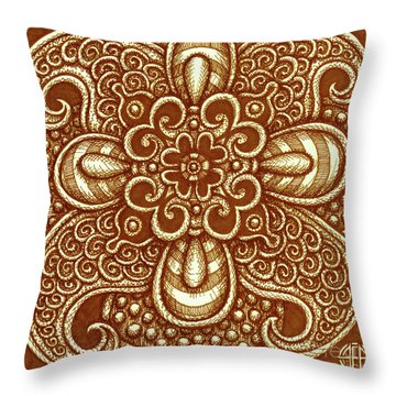 Alien Bloom 17 Throw Pillow