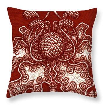Alien Bloom 18 Throw Pillow