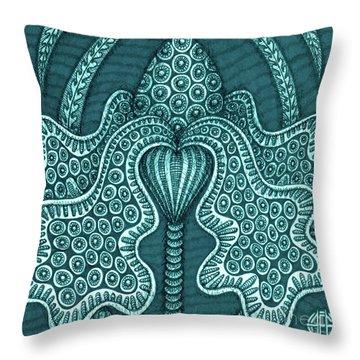 Alien Bloom 23 Throw Pillow