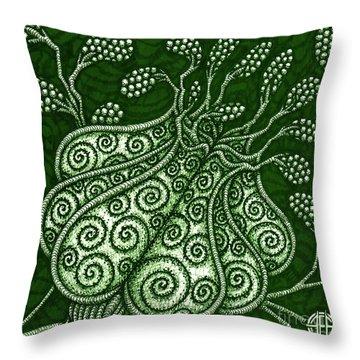 Alien Bloom 25 Throw Pillow