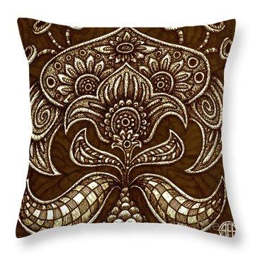 Alien Bloom 26 Throw Pillow