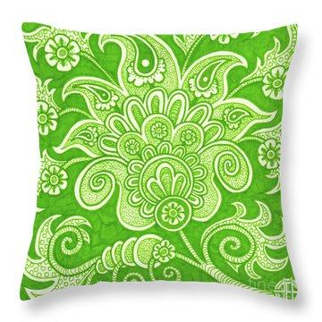 Alien Bloom 4 Throw Pillow