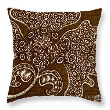Alien Bloom 6 Throw Pillow
