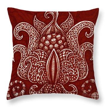 Alien Bloom 8 Throw Pillow