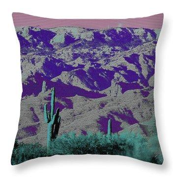 Alien Colors On Mount Lemmon Throw Pillow