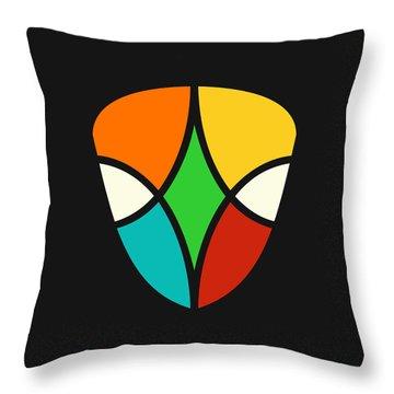 Alien Falcon Throw Pillow