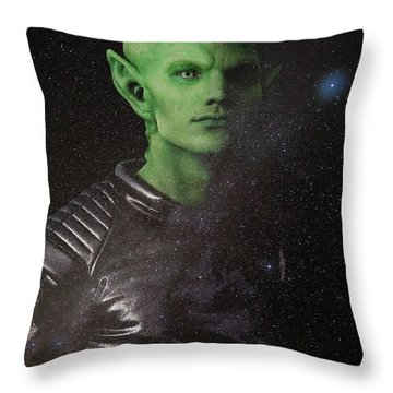 Throw Pillow featuring the photograph Alien by Nicole Young