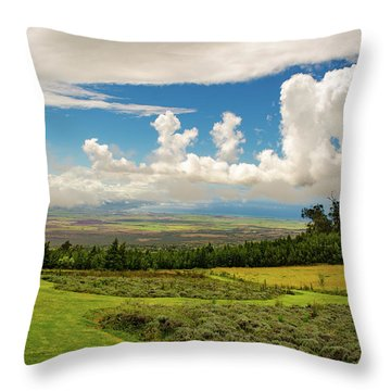 Throw Pillow featuring the photograph Alii Kula Lavender Farm by Jeff Phillippi