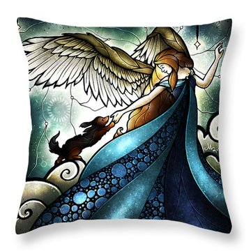 All Dogs Do Go To Heaven Throw Pillow