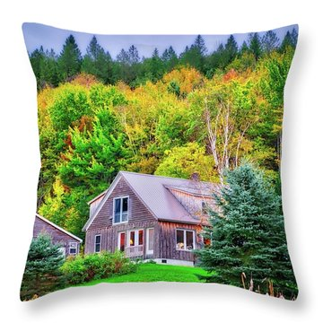 Throw Pillow featuring the photograph All Snuggled In by Lynn Bauer