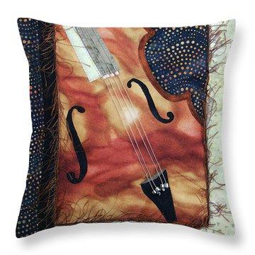 All That Jazz Bass Throw Pillow