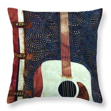All That Jazz Guitar Throw Pillow