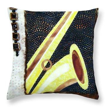 All That Jazz Saxophone Throw Pillow