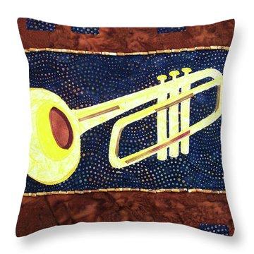 All That Jazz Trumpet Throw Pillow