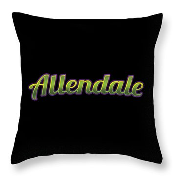 Allendale #allendale Throw Pillow
