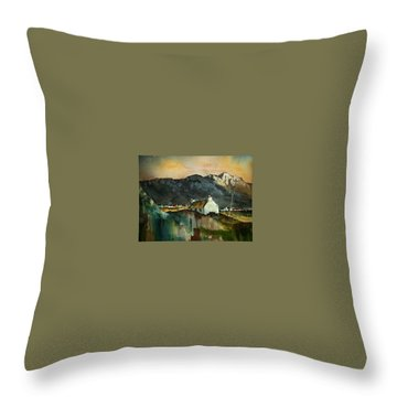Throw Pillow featuring the painting Allihies Sunset, Beara Peninsula, Co. Cork by Val Byrne