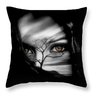 Throw Pillow featuring the digital art Allure Of Arabia by ISAW Company