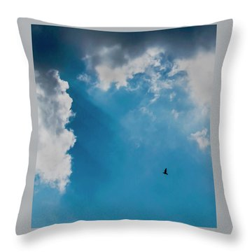 Colours. Blue. Alone. Throw Pillow