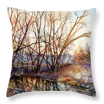 Along Boulder Creek Throw Pillow