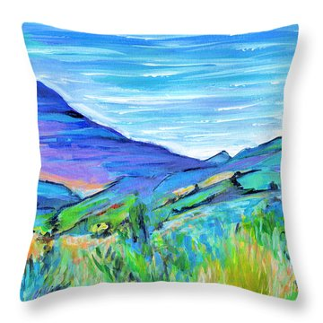Along The Blue Basin Scenic Highway Throw Pillow