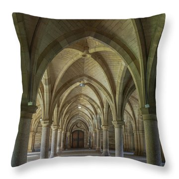 Along The Cloisters Throw Pillow