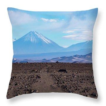 Along The Inca Trail In The Atacama Desert Throw Pillow