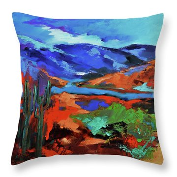 Along The Trail - Arizona Throw Pillow