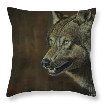 Alpha Male ......the Gray Wolf Throw Pillow